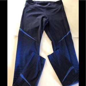 Under armor blue knit leggings sz small